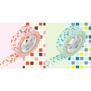 MT masking tape 2P tile pink x green