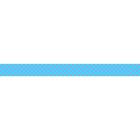 Mini Neón blue / Polka dots 7 m