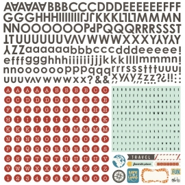 CARTE POSTALE - 12X12 ALPHABET STICKERS