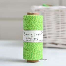 Bakers Twine HEMPTIQUE 125 m Amarillo Neón / Verde