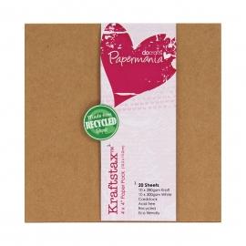 Pack 10.3 x 10.3 cm cartulinas kraft y blancas (20 ud.)