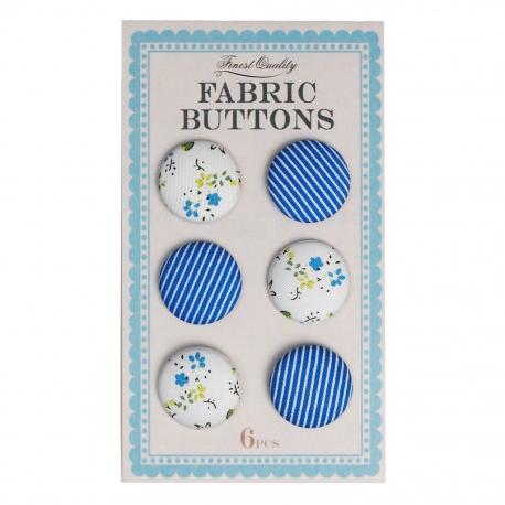 Botones forrados vintage azul