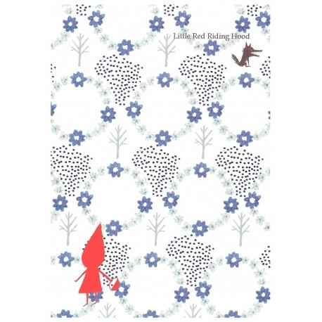 "Postal Shinzi Katoh ""Caperucita Bosque Azul"""