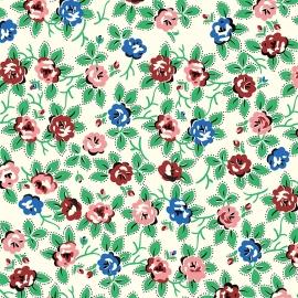 Papel de regalo flores rosa y azul