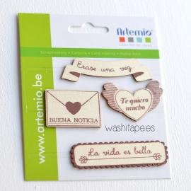 """Troquelados madera """"la vida es bella"""""""
