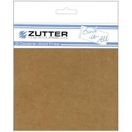 Cubiertas Chipboard - 2,8 mm -22,7 x 22,7 cm para Bind-It-All (1 par)