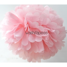 Pompón rosa pastel 35 cm