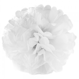 Pompón blanco 35 cm