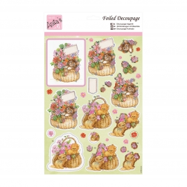 Toppers Gatitos decoupage