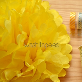 Pompón amarillo 35 cm