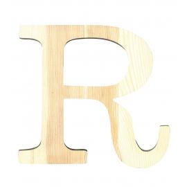 Letra de madera R de 19 cm