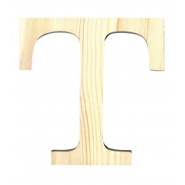 Letra de madera T de 11,5 cm