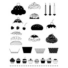 Sellos acrílicos Cupcakes Artemio