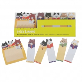 MINI MEMO PADS GATOS Y OSOS