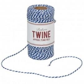 Baker's Twine azul intenso y blanco