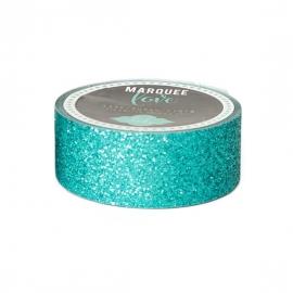 Marquee Washi Turquese Glitter