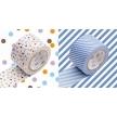 MT masking tape wide drop lavender x stripe light blue