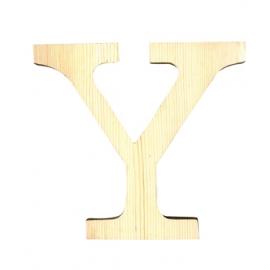 Letra de madera Y de 11,5 cm