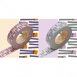 MT 2 masking tape Deco carrot / orange x purple