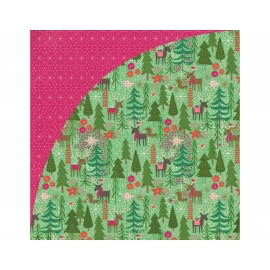 Papel doble cara Juniper Berry Reindeer
