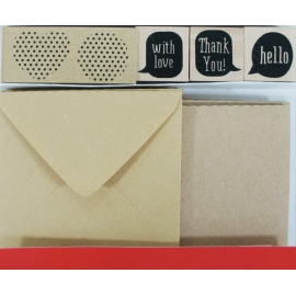 Kit sobres, tarjetas y sellos With love