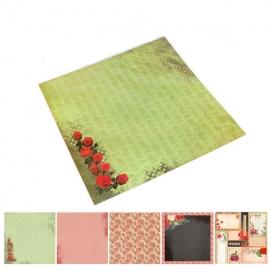 Set 5 Papeles Surtido Flores Love