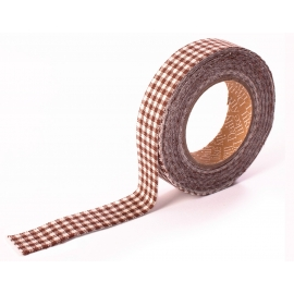 Dailylike Fabric tape Gingham check brown