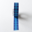 MT masking tape checked tartan blue