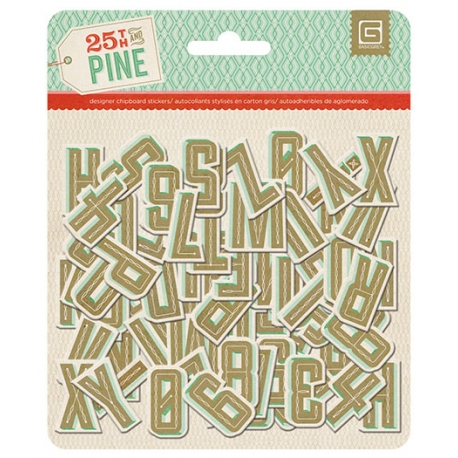 BasicGrey Letras adhesivas de cartón