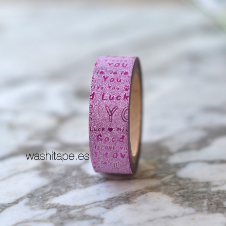 Wt* washi tape purpurina love