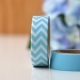 Wt* washi tape chevron azul