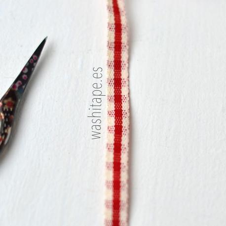 Lazo vichy rojo 10 mm.
