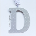 Letra de metal D 10 cm