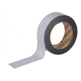Cinta masking tape Purpurina Plateado