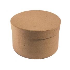 Caja papel maché redonda 8 cm. x 4 cm.