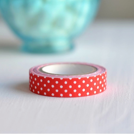 Wt* Fabric tape cuadros rojo