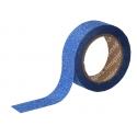Cinta masking tape Purpurina azul