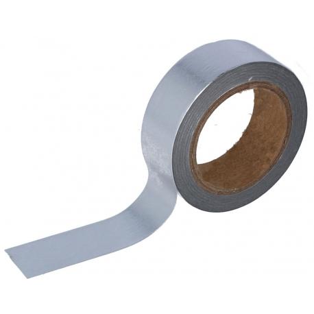 Masking tape foil plateado