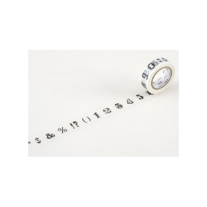 MT masking tape Number / symbol black
