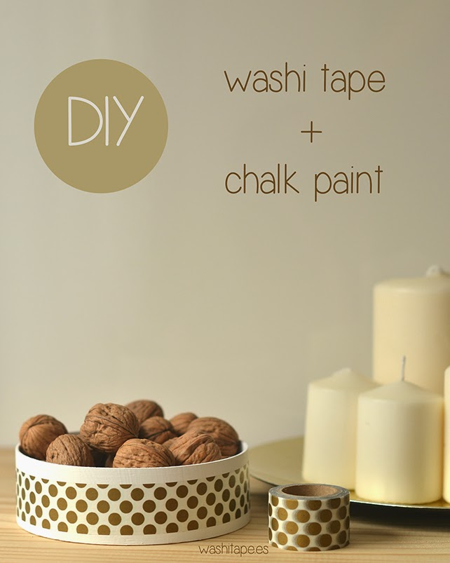 DIY: washi tape + chalk paint