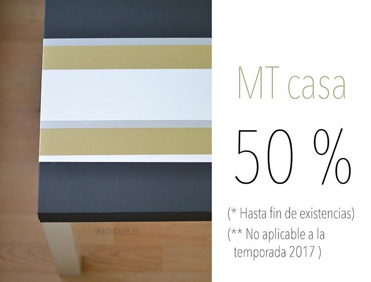 50 % descuento mt CASA