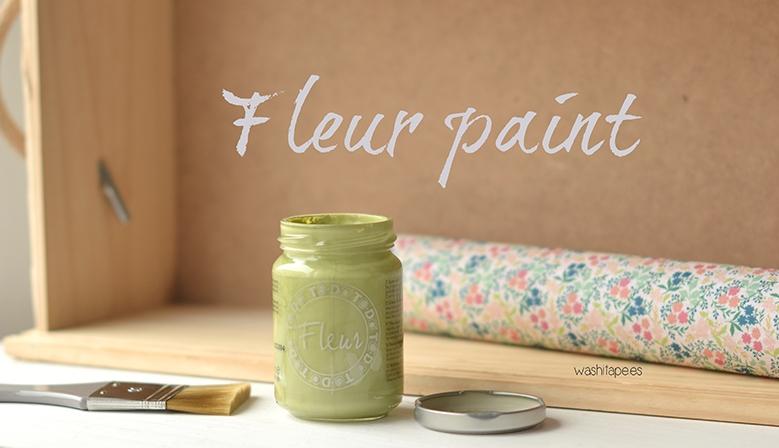 Fleur paint o pintura efecto tiza