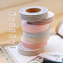 Dailylike Fabric tape Stripe red