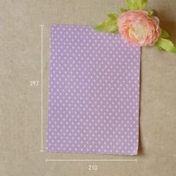 Dailyike Fabric sticker Dot purple ground