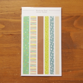 Dailylike set 12 tiras de washi tape Childhood - Sometimes 150x100 mm