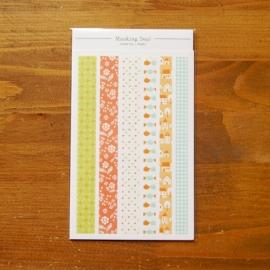 Dailylike set 12 tiras de washi tape thank you-homey 150x100 mm