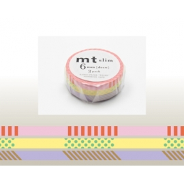 Masking tape MT 3P Slim deco A