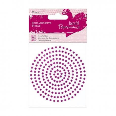 Diamantes adhesivos 3mm - Rosa