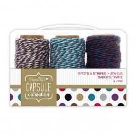 Bakers Twine (3pcs) - Capsule - Spots & Stripes Jewels