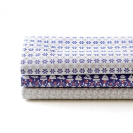 Set 3 Quarter pack textil Snowbell